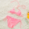 color 3cute cheap little girl bikini teen Sequins swimwear bikini