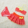 color 2cheap bow dot little girl teen swimwear bikini