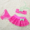 color 4cheap bow dot little girl teen swimwear bikini