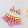 color 3lemon printing little girl teen swimwear