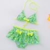 color 4lemon printing little girl teen swimwear