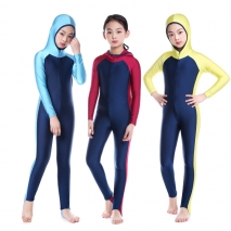 high quality little girl teen hooded swimwear bruqini