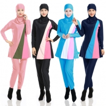 high quality women hooded swimwear burqini Muslim swimsuits
