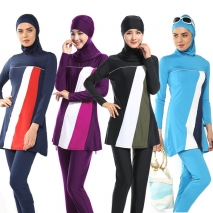 fashion women full cover up swimwear burqini Muslim swimsuits
