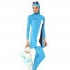 color 2high quality women hooded swimwear burqini Muslim swimsuits
