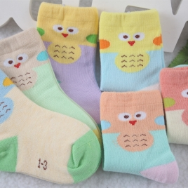 carton chick printing cotton children kid socks wholesale