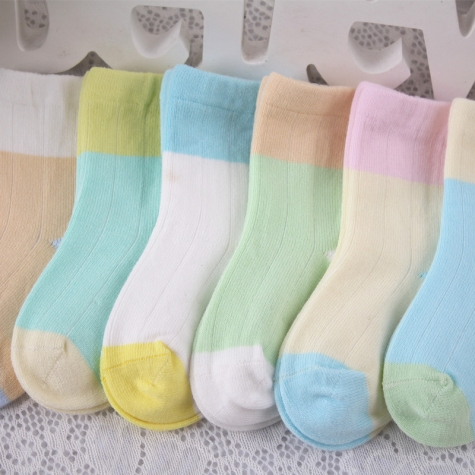 candy patchwork warm cotton children socks wholesale