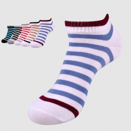 wide stripes cotton mesh comfortable men socks