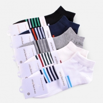 thin stripes summer boat socks for men