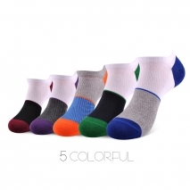 fashion colorful patchwork men sport socks