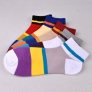 Europe colorful patchwork design men mesh socks