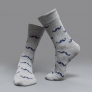 casual moustache printing cotton socks