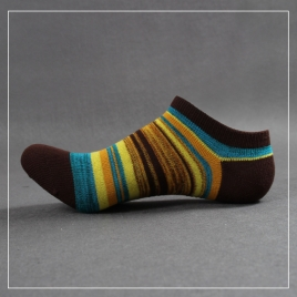 summer knitted mix color men ankle socks