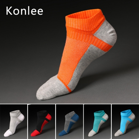 summer dual color patchwork cotton toe socks sports socks