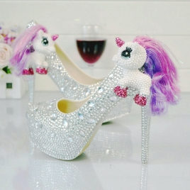 fashion handmade wedding shoes pumps