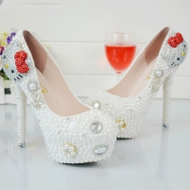 lovely kitty lady shoes bride pumps