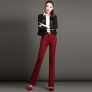 winter thicken fleece warm office dressy pant women WPANT-049