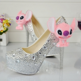 dog head party shoes pumps