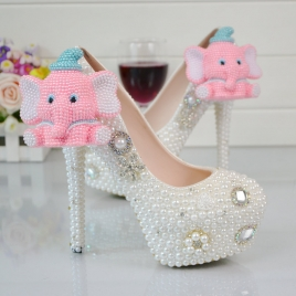 lovely elephant pendant party shoes women pumps