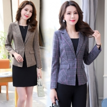 2018 wild fashion one button long sleeve women blazer jacket