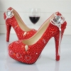 new design crown tassel pendant young lady  wedding shoes pumps