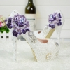 high quality crystal rose women wedding shoes pumps