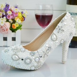 2018 new design women wedding shoes pumps
