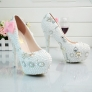 2018 new design bow  bride shoes women wedding  crystal shoes pumps