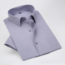 summer solid color short sleeve men shirts office uniform