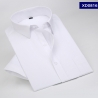 color 1summer solid color short sleeve men shirts white color