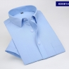 color 4summer solid color short sleeve men shirts white color