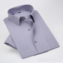 summer solid color short sleeve men shirts gray color