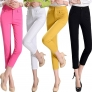 Korea design candy solid color casual pant for women