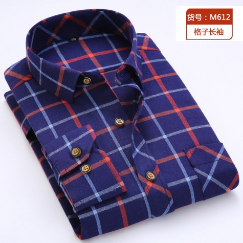 casual fashion sqaure print men shirt
