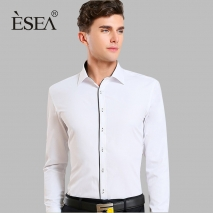 Europe design slim fit light green shirt for men