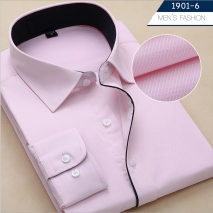Korea design slim fit pink shirt for men