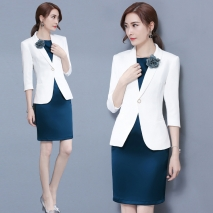 fashion korea casual long sleeve office Lady/OL career women skirts suits