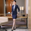 2018 new design wait staff office help desk uniform waitress suits