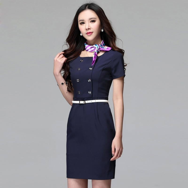 2016 formal design career business office women 39 s dress for Office uniform design 2016