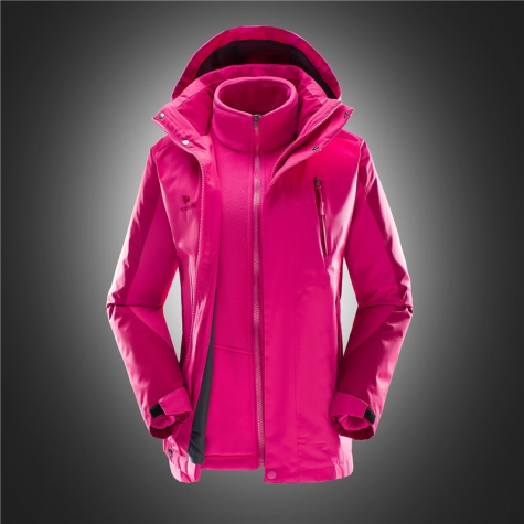 high quality rose women Interchange Jacket outdoor coat