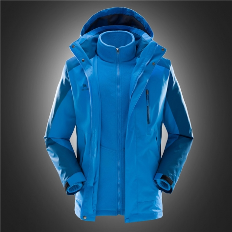 high quality  men Interchange Jacket blue coloar