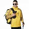men yellowlarge size men/men windbreaker Interchange Jacket outdoor jacket