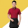 waiter redrestaurants coffee bar waiter waitress uniform shirt + apron