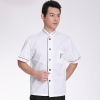 great wall hem printing chef uniform white coat