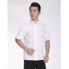 color 2great wall hem printing chef uniform white coat