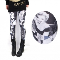 Europe fashion design  sexy microfiber  Marilyn Monroe  leggings pants jeans