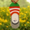color 1casual candy stripes anti creep man sock slipper