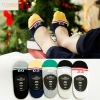 mixed colorcasual candy stripes anti creep man sock slipper
