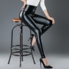 black 2Europe America sexy imitation leather PU high waist women's leggings pants