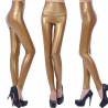 glodenEurope America sexy imitation leather PU high waist women's leggings pants